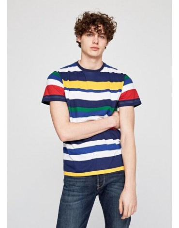Camiseta Pepe Jeans rayas multicolor