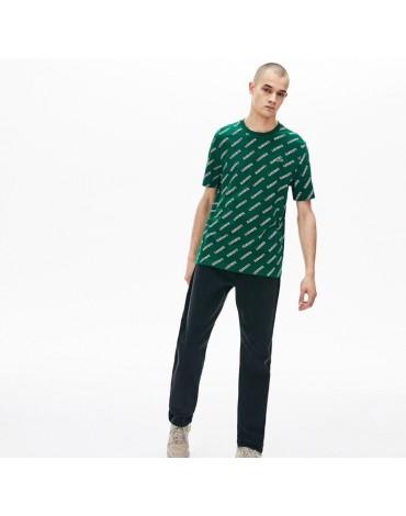 Camiseta Lacoste estampado distintivo