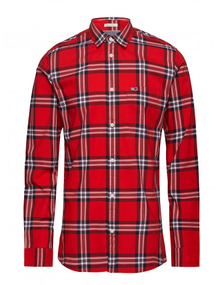 Camisa Tommy Jeans ESSENTIAL CHECK POCKET