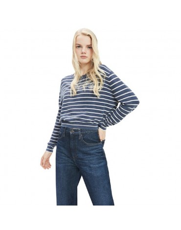 TJW WASHED STRIPED SWEATER