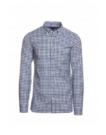 Camisa Slim Natural Soft Gingham Shirt MW0MW13448 MW0MW13448
