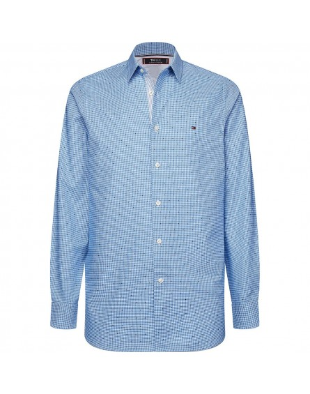 Camisa Tommy Hilfiger Slim Flex Gingham Dobby Shirt DW0Mw12192