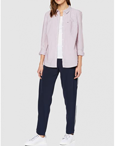 Camisa Mujer TJM Regular Stripe Poplin DW0DW07250