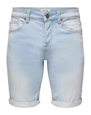 Only&Sons Pantalón Corto Onsply Life Blue Jog Shorts PK8587 NOOS