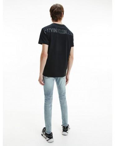 Calvin Klein camiseta de algodón orgánico con logo tonal J30J317499 BEH