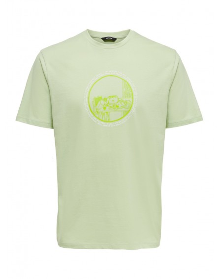 Only&Sons Camiseta ONSACA LIFE REG